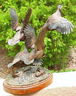 Heading For Cover Bronze Sculpture 17 in Sculpture - Frank DiVita