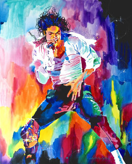 Michael Jackson Wind 2010 30x24 Original Painting - David Lloyd Glover
