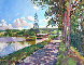 Bourgogne Canal 2005 26x30 Original Painting by David Lloyd Glover - 0