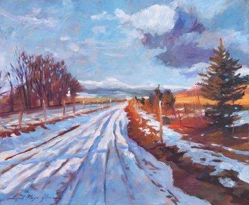 Storm Passing 2013 20x24 Original Painting - David Lloyd Glover