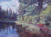 Lakes Edge 2013 18x24 Original Painting by David Lloyd Glover - 1