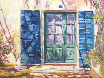 213 Rue De Provence, France 2013 Original Painting by David Lloyd Glover