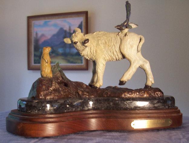 Little Big Medicine Bronze Sculpture 12 in  Sculpture by David Manuel