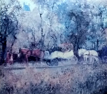 Coachman in the Park 1970 Limited Edition Print - Marin Dobson