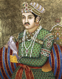 Akbar the Great 2018 18x14 Original Painting - Vadim Dolgov