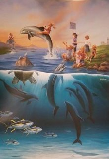 Dolphin Rides 2011 Hs buy Warren and Wyland Limited Edition Print - Antonia Dolinina
