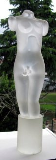 Torso Unique Glass Sculpture Sculpture - Romano Dona