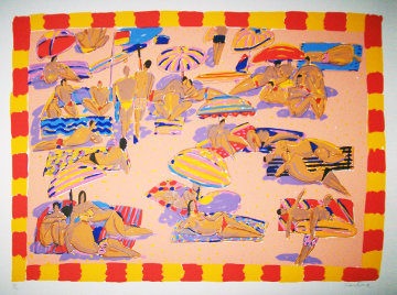 Sunbathers on the Beach Limited Edition Print - Ken Done