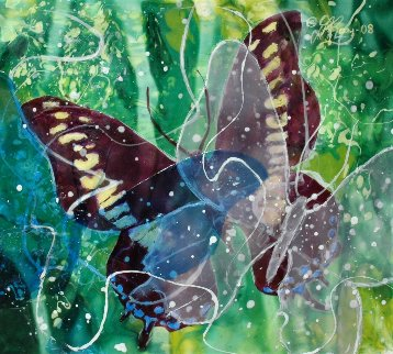Butterfly #21 2008 15x16 Original Painting -  Donray