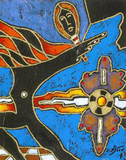 Rattler 2009 9x15 Original Painting by Neal Doty