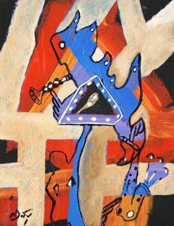 Balancing Act 2009 12x9 Original Painting by Neal Doty
