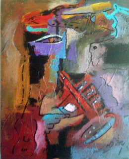 Away We Go 2009 12x9 Original Painting by Neal Doty
