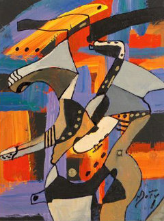 One for Bud Shank Original Painting - Neal Doty