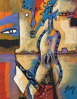 Third Man II 2009 12x9 Original Painting - Neal Doty