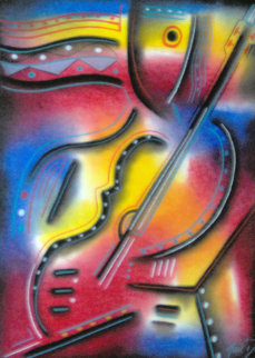 Prodigy Pastel 34x20 Works on Paper (not prints) by Neal Doty