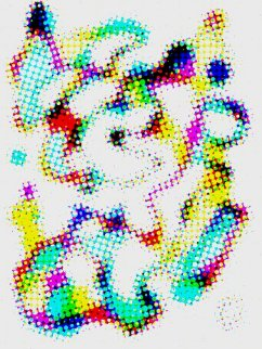 Abstract Negative Pointillism 2 Embellished Limited Edition Print - Neal Doty