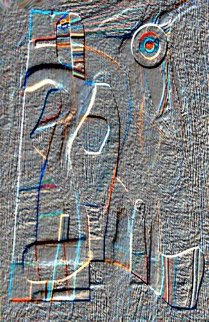 Embossed Figures 2014 Limited Edition Print by Neal Doty