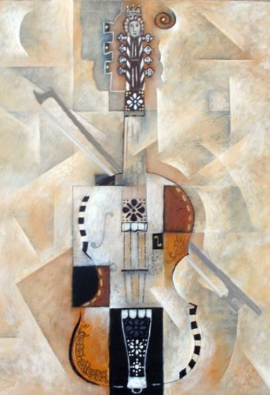 Hardanger Fiddle 2000 Embellished Limited Edition Print by Neal Doty