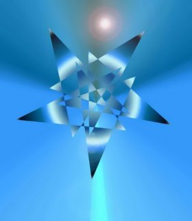 Dimensional Blue Star 2014 Limited Edition Print by Neal Doty