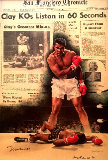 Clay KO's Liston in 60 Seconds AP 2004 HS by Ali Limited Edition Print - Doug London