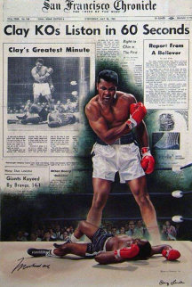 Muhammad Ali - Cassius Clay KO\'s Sonny Liston in 60 Seconds HS Limited Edition Print - Doug London