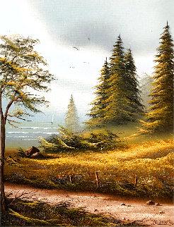 Four Seasons 1986 27x23 Original Painting - Lionel Dougy
