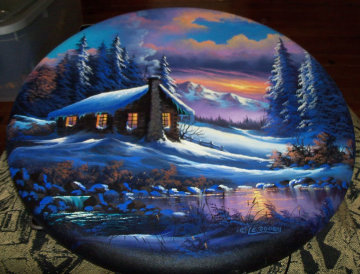 No Cabin Fever 1997 24x24 Original Painting - Lionel Dougy