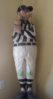 Football Referee Unique Wood Sculpture 1987 Sculpture by Jack Dowd