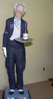 Noble Le Sommelier (The Wine Steward)  Sculpture - Jack Dowd