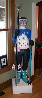Skier life Size Sculpture 74 in  Sculpture - Jack Dowd