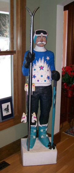 Skier life Size Sculpture 74 in  Sculpture by Jack Dowd