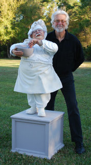 Singing Chef 3/4 Life Size Sculpture 2009 Sculpture - Jack Dowd