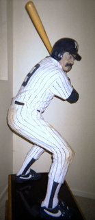 Bases Loaded (New York Yankees) Hyrdocal Life Size Sculpture 1990 76 in Sculpture - Jack Dowd