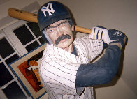 Bases Loaded (New York Yankees) Hyrdocal Life Size Sculpture 1990 76 in Sculpture by Jack Dowd - 2
