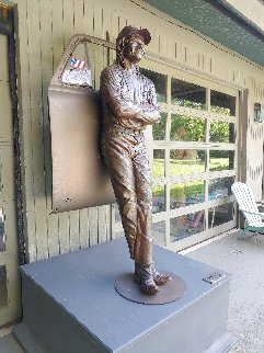 Southern Exposure Life Size Bronze Outdoor Sculpture Sculpture by Jack Dowd
