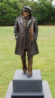 Imagine Bronze Sculpture (John Lennon) 2013 Sculpture by Jack Dowd