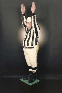 Referee (Touchdown) mixed media Sculpture 1997 Sculpture by Jack Dowd