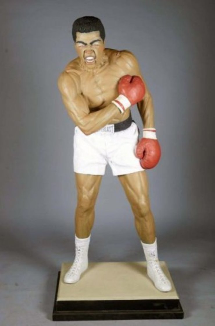 Muhammad Ali Acrylic and Glass Sculpture (Life Size 6ft) Sculpture by Jack Dowd
