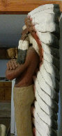 Chief Cigar Store Wooden Indian Sculpture 1977 84 in Tall Sculpture by Jack Dowd - 1