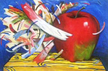 Apple 1993 24x36 Original Painting - Robert Dowd