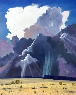 Verga 2018  72x60 Original Painting - Dennis Downey
