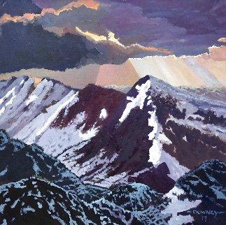 Rocky Mountain Spring 2019 24x24 Original Painting - Dennis Downey