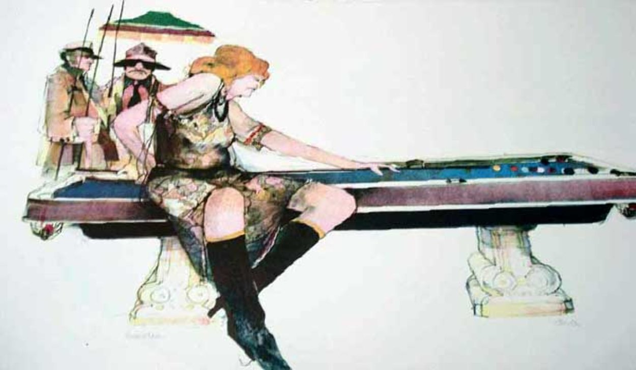 Gamblers Suite: Hustler Limited Edition Print by John Doyle