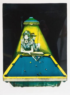 Gamblers Suite: Pool Players 41x29 Super Huge  Limited Edition Print - John Doyle