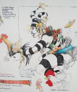 Koshari/ Sacred Clowns Drawing 1998 12x19 Drawing - John Doyle
