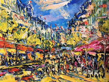 Small Paris 15x17 Original Painting -  Duaiv