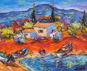 3 Barques a Van Gogh 2014 Embellished  Limited Edition Print -  Duaiv
