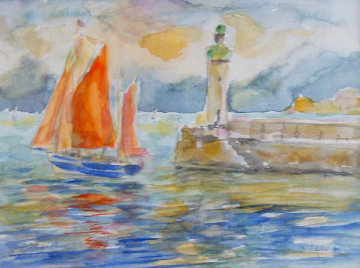 Depart Watercolor 2013 19x22 Watercolor -  Duaiv