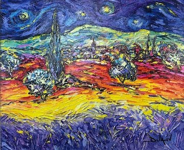 Multicolor Van Gogh AP 2014 Embellished Limited Edition Print -  Duaiv