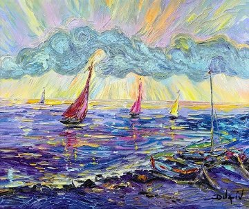 Sunset Offshore 2014 Embellished Limited Edition Print -  Duaiv
